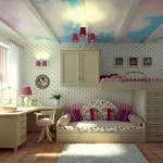 nice rooms for girls with sky painted ceiling
