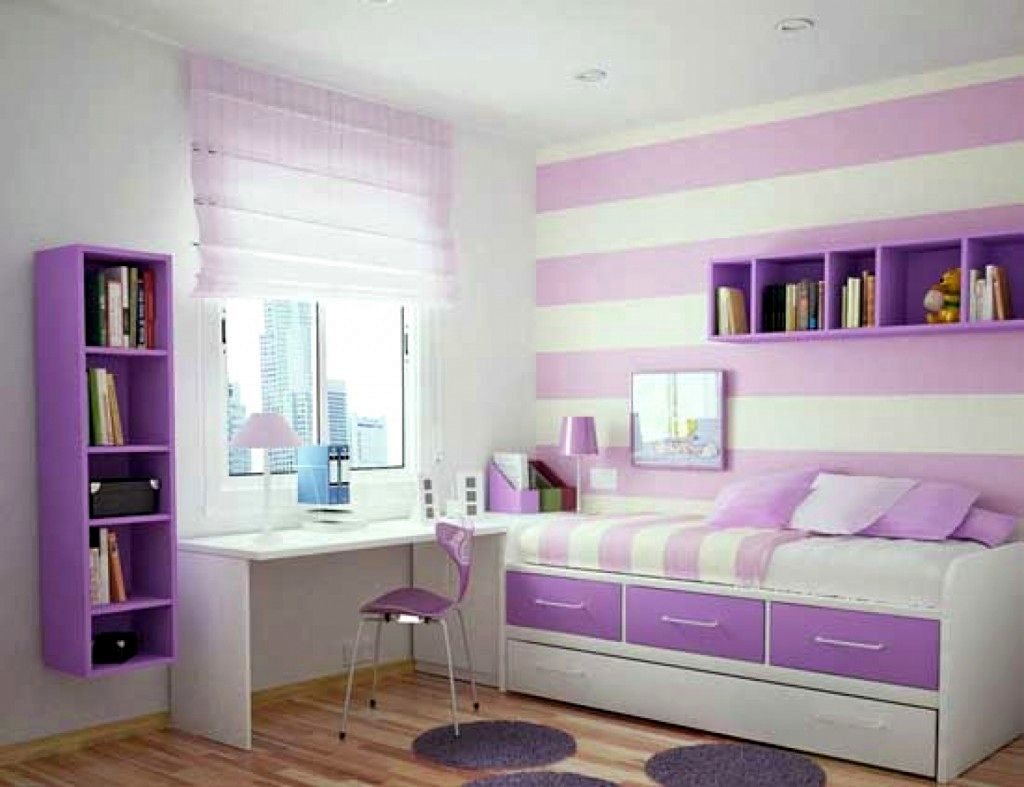 Living Room Nice Room Designs 20 comfortable and nice rooms for girls design ideas with sofa bed purple stripes wall
