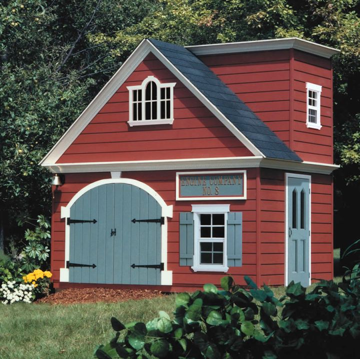 old firehouse luxury outdoor playhouse