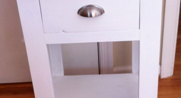 one drawer and a bottom shelf modern nightstands white