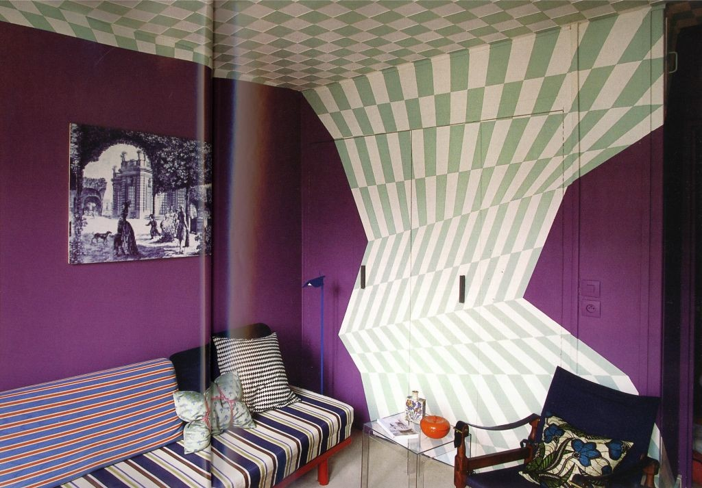 optical illusion cool painting ideas for bedrooms