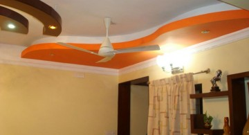 orange wave drop ceiling decorating ideas