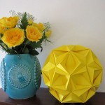 origami flower diy bedroom art