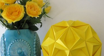 origami flower diy bedroom art