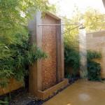 outdoor bamboo themed bathroom