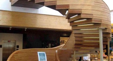 oval wooden staircase designs