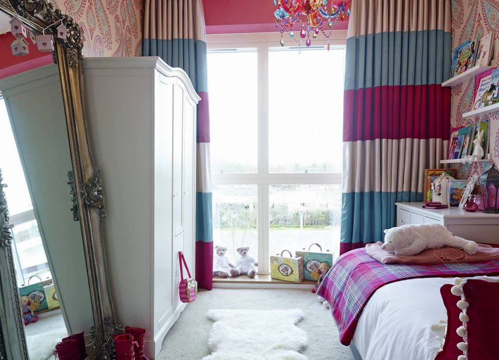 bedroom bright pink teenage curtain fresh with small girl window rugs white pin curtains fur for