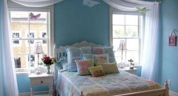 pastel-colored room designs cute blue bedroom