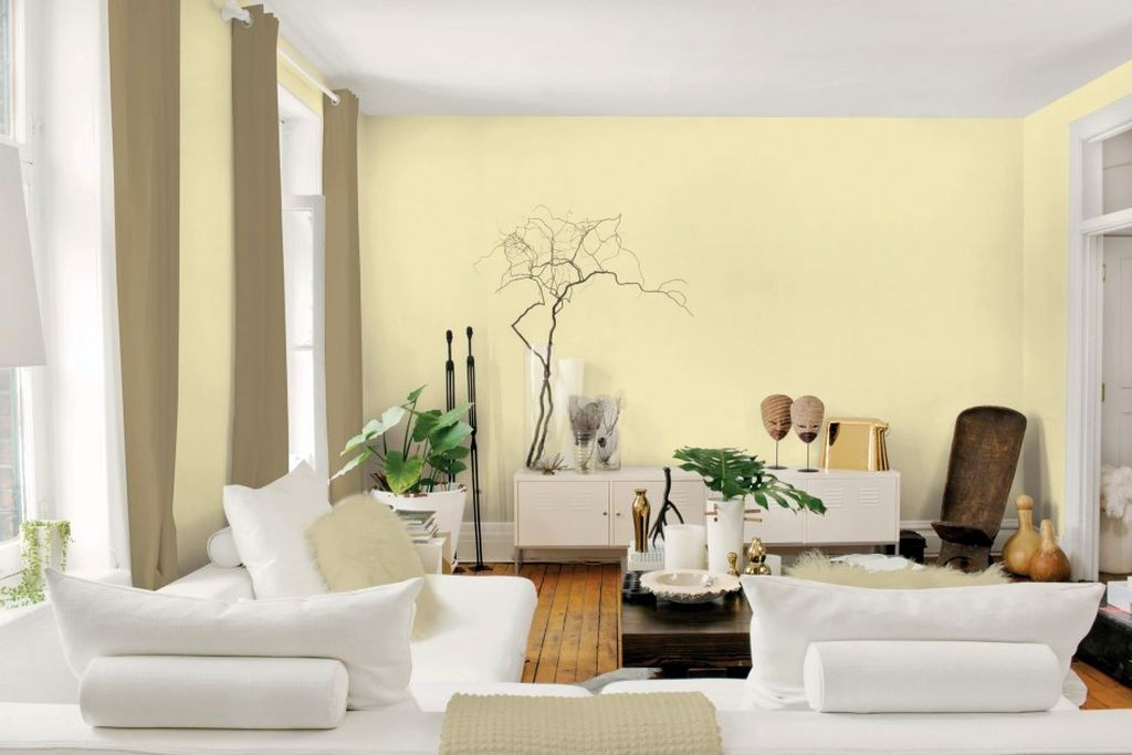 Pastel Colored Room Designs With Cream Wall And White
