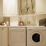 pastel colored wallpaper small laundry room designs