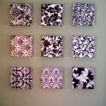 patterns in small frames diy bedroom art