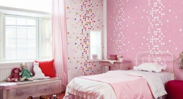 pink bricks kids rooms paint ideas