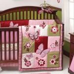 pink butterflies cute baby girl bedding ideas