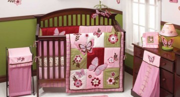 pink butterflies cute baby girl bedding ideas