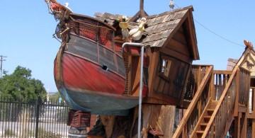 pirate ship luxury outdoor playhouse