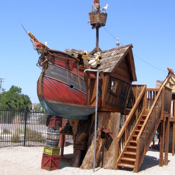 pirate ship luxury outdoor playhouse