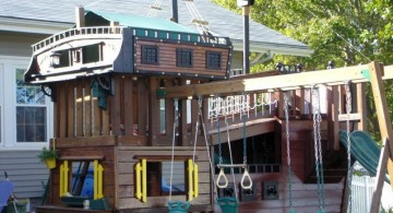 pirate ship with swings and slide luxury outdoor playhouse