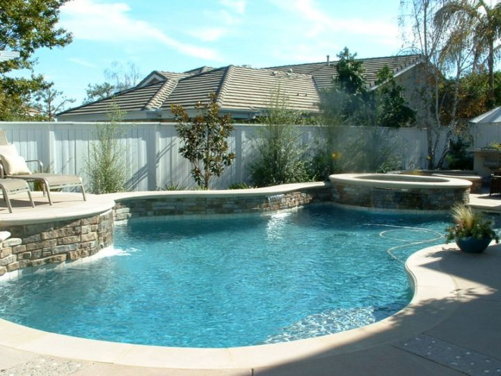 pool with spa designs for small yard