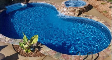 pool with spa designs kidney shaped pool with separated jacuzzi