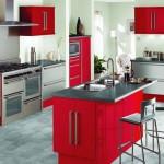 popular paint colors for kitchen in red and white