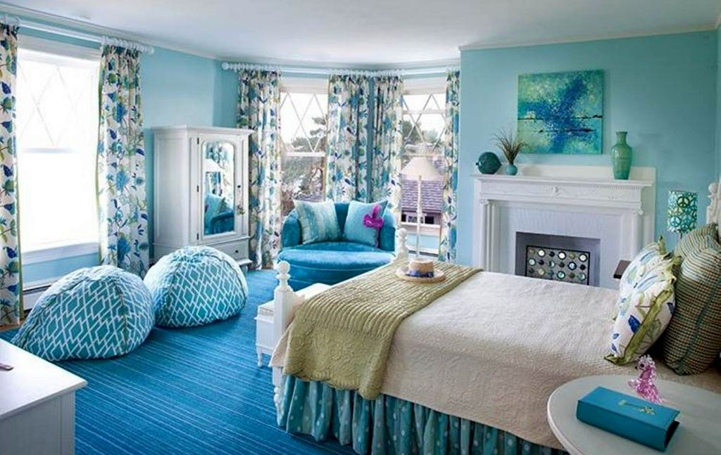 pretty girl bedrooms in blue color scheme