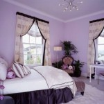 pretty girl bedrooms in purple and white