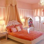 pretty girl bedrooms in soft pink and orange