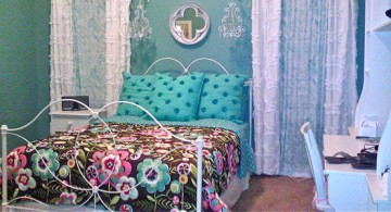 pretty girl bedrooms with blue flowers