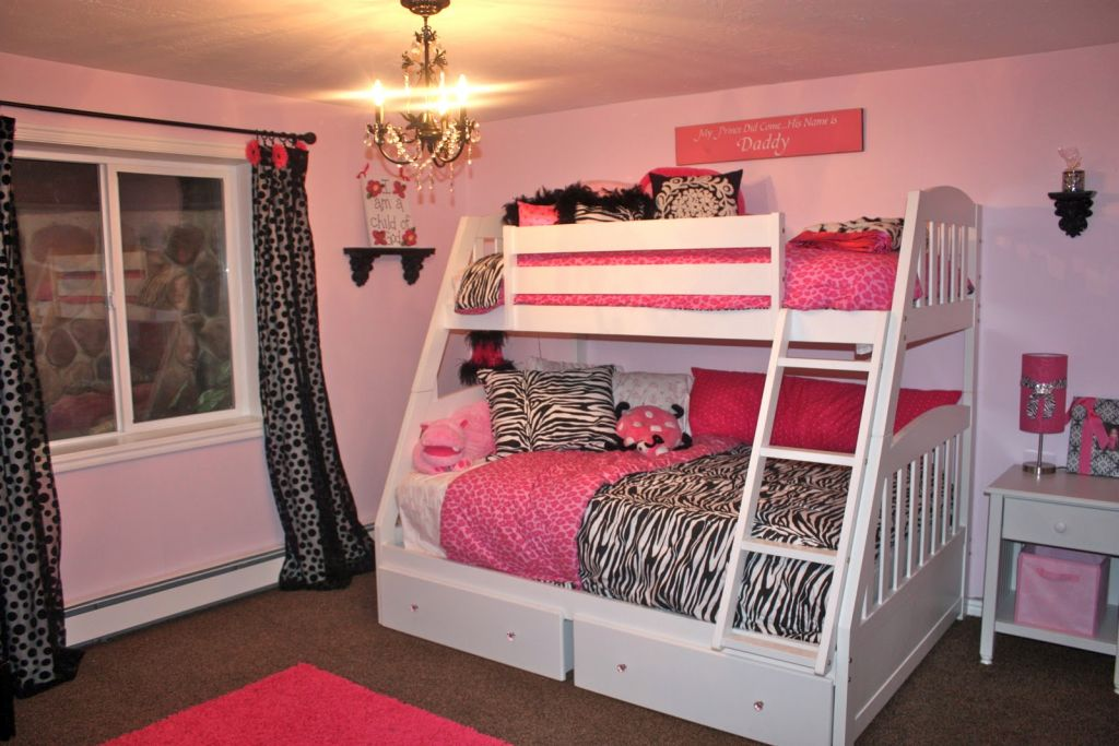 Pretty Girl Bedrooms With Bunk Beds