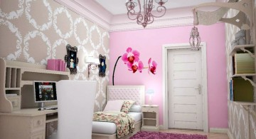 pretty girl bedrooms with chandelier