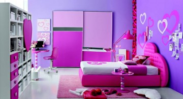pretty girl bedrooms with purple walls