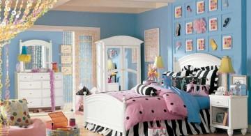 pretty girl bedrooms with zebra print linen
