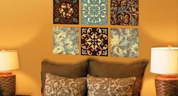 random patterns diy bedroom art