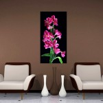 realism painting pink and black wall decor