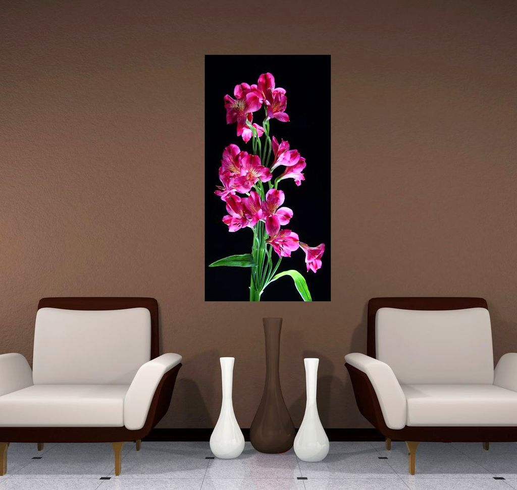 Pink Black Wall Decor : Realism painting pink and black wall decor