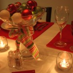 red and gold bowl centerpiece ideas