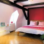 red black and white bedroom ideas for basement or low ceilinged rooms
