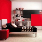 red black and white bedroom ideas with black bedding