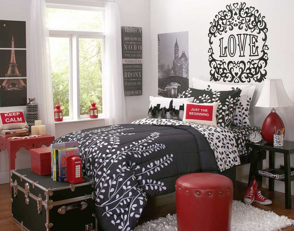 Gallery For Red Black And White Bedroom Ideas