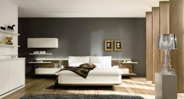 relaxing paint colors for bedrooms in wood and monochrome