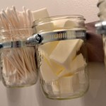 repurpose old jam jars make up storage cabinet ideas