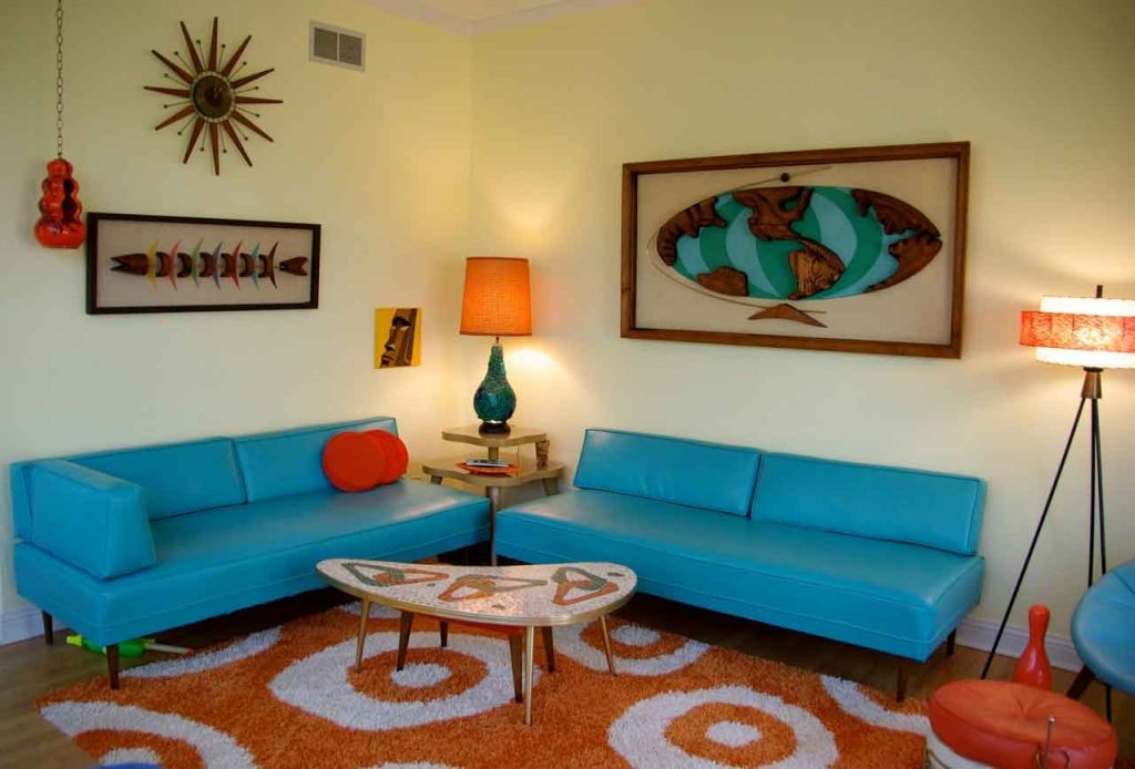 19 hot retro living room ideas for Living room ideas retro