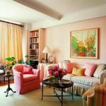 retro living room ideas in bright pastel colors