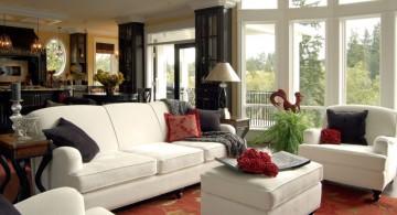 retro living room ideas in white