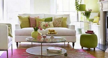 retro living room ideas with white sofas
