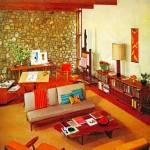 retro living room ideas with wooden floor