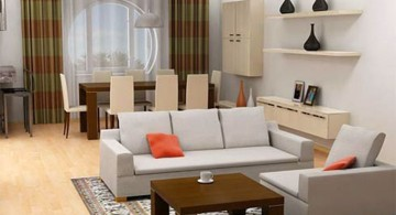 retro style small living room ideas
