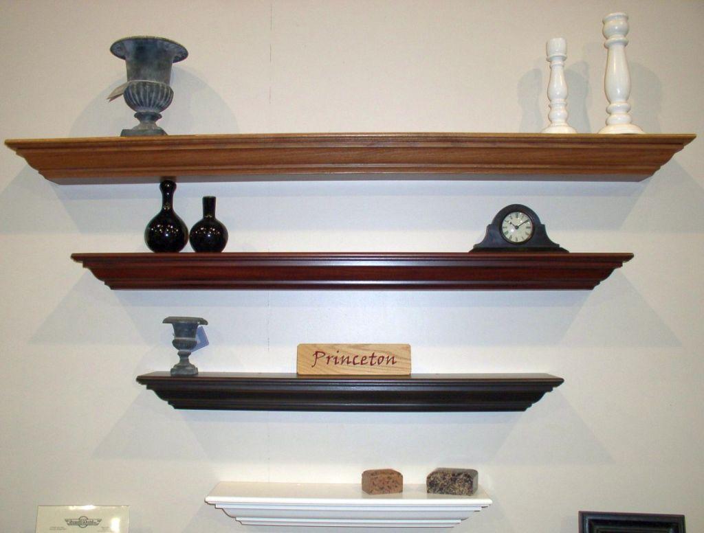 Reversed Triangle Floating Shelf Decorating