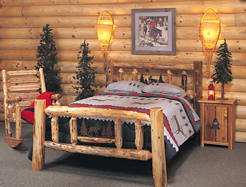 Rustic bed plans for cottage for Rustic bed plans