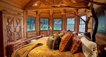 rustic bed plans for small space